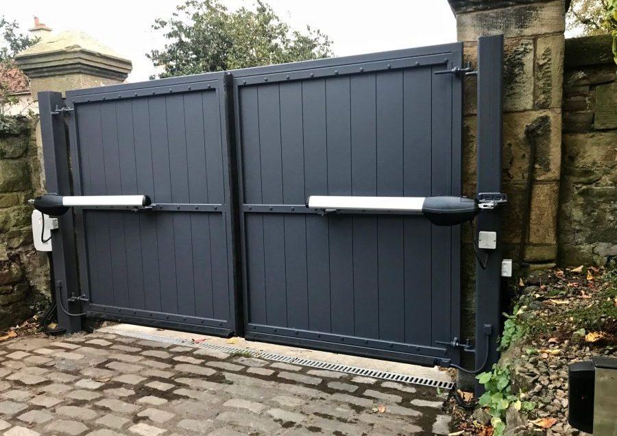 Automatic Aluminium Driveway Gates installed in Edinburgh Scotland