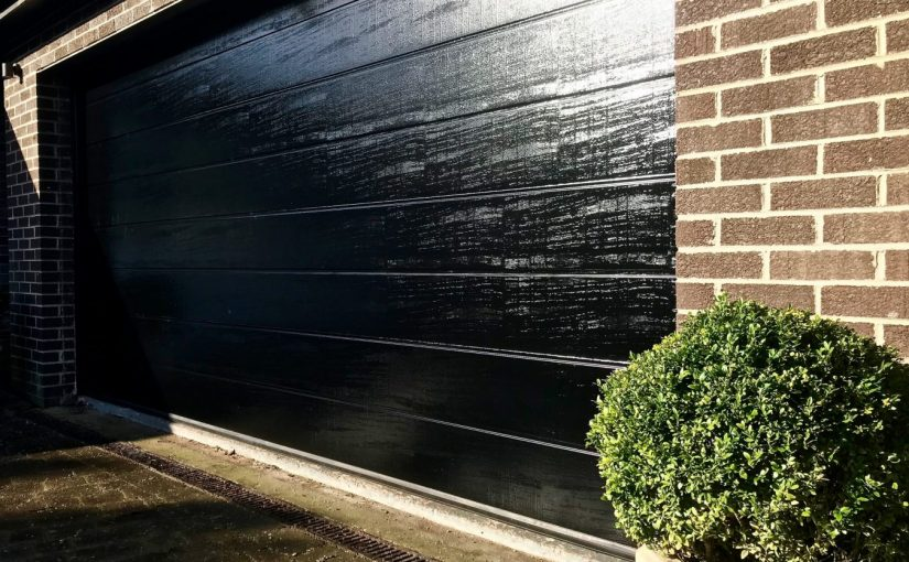 Automatic Double Sectional Garage Door installed in Edinburgh Scotland