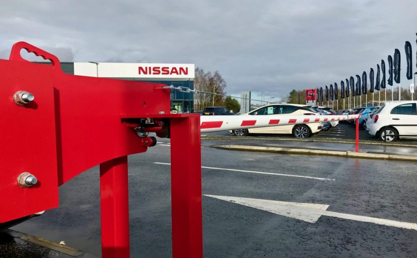 Manual Car Park Barrier installed in Stirling