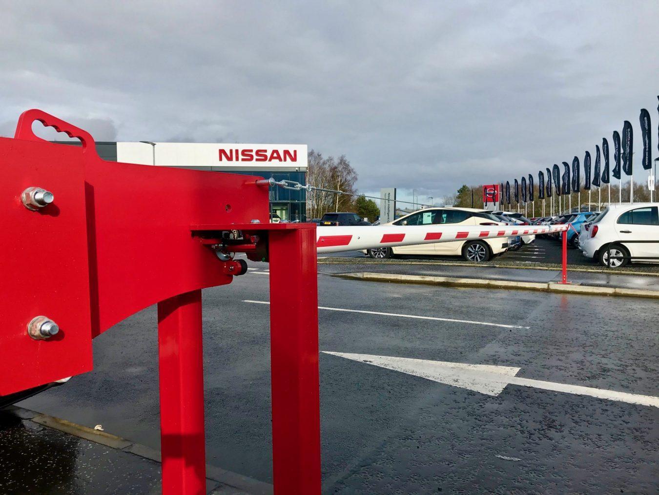 Manual Car Park Barrier installed in Stirling