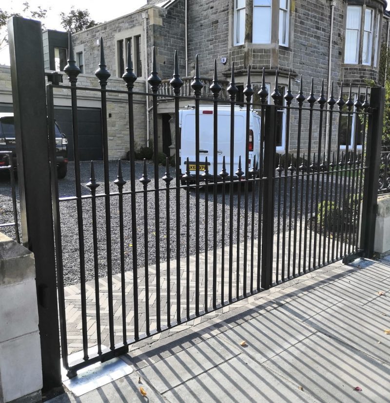 Wrought Iron Automatic Gate Installed in Edinburgh