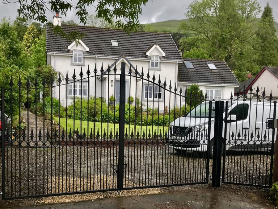 Wrought Iron Automatic Gate Installed in Stirling