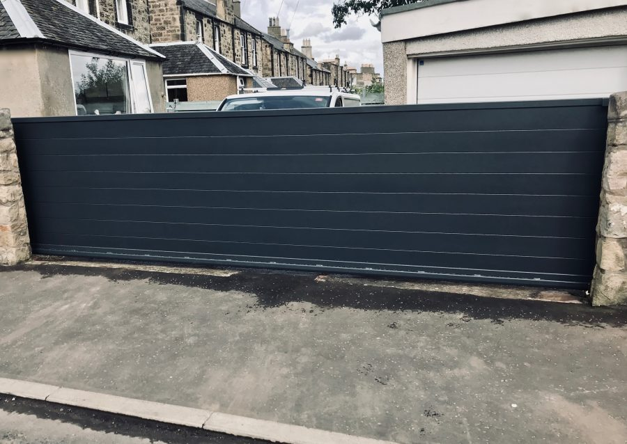 Automatic Aluminium Sliding Gate installed in Edinburgh