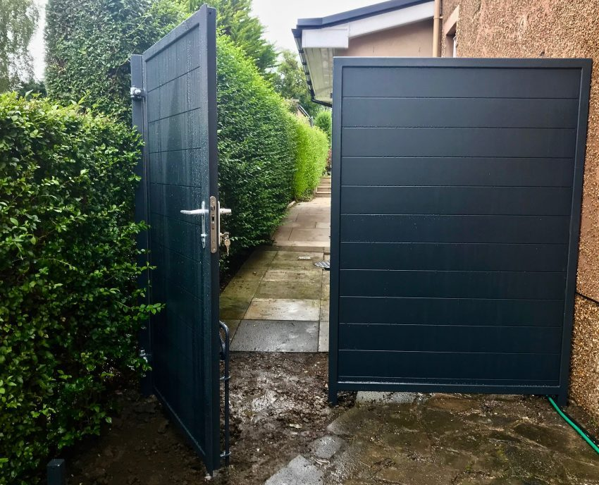 Aluminium Pedestrian Gate installed in Edinburgh