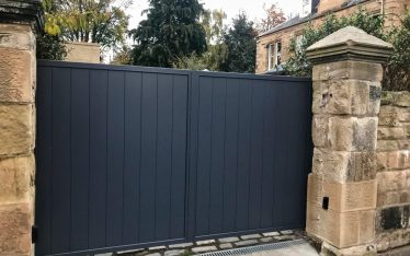 Automatic Aluminium Driveway Gates installed in Edinburgh