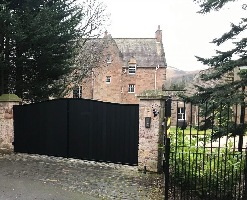 Automatic Aluminium Driveway Gates Installed in Edinburgh Scotland