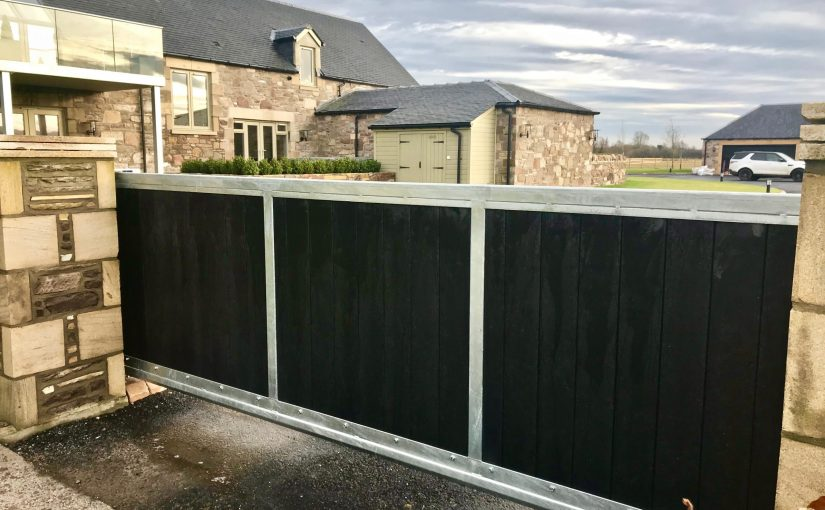 Composite | Recycled Plastic Driveway Gates installed in Scotland