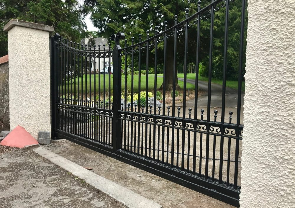 Automatic metal cantilever sliding gate installed in Dunblane