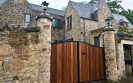 Metal Framed Iroko Clad Automatic Driveway Gates Edinburgh