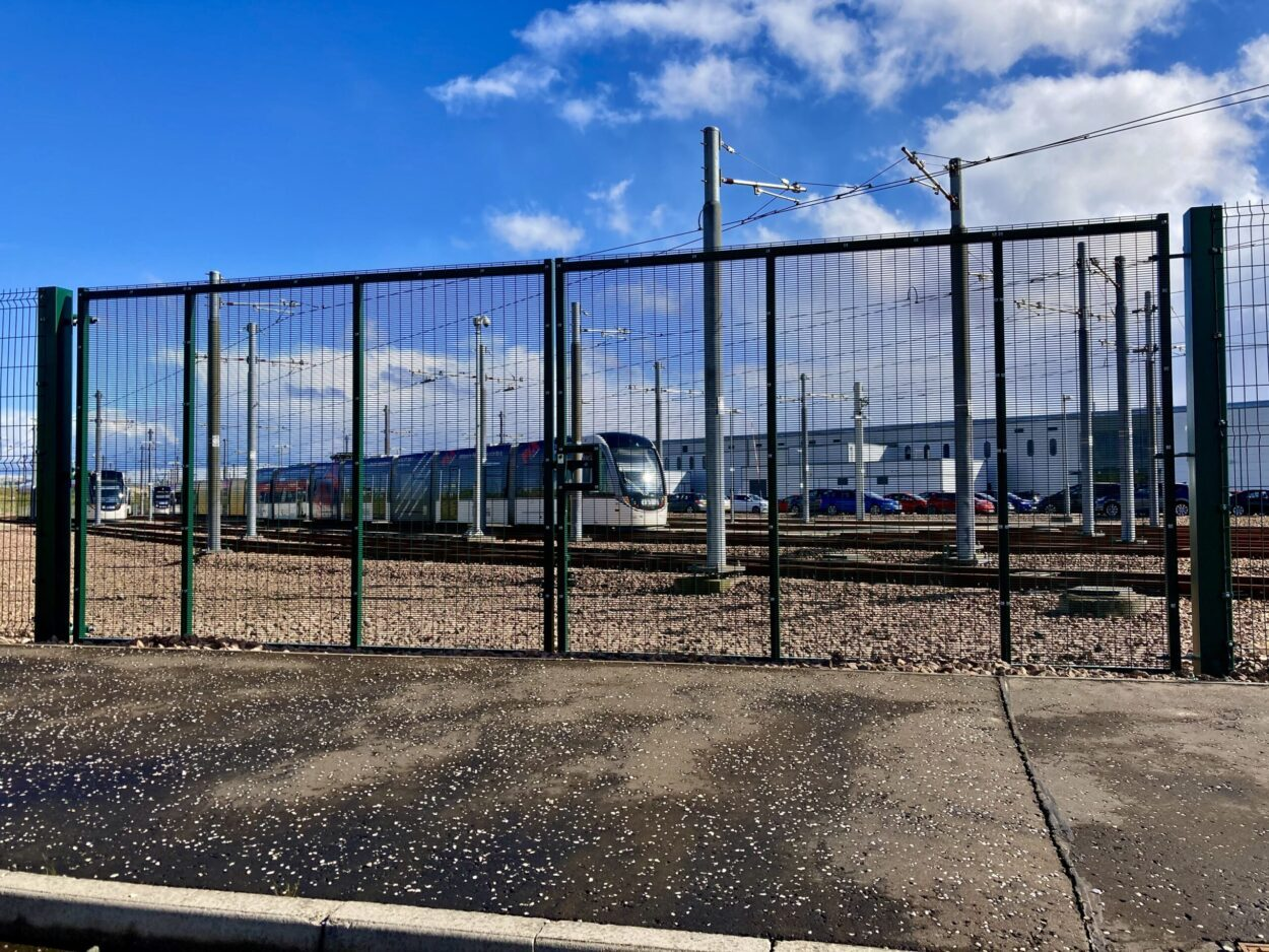 AES (SCOTLAND) LTD recently installed industrial gate for Edinburgh Trams