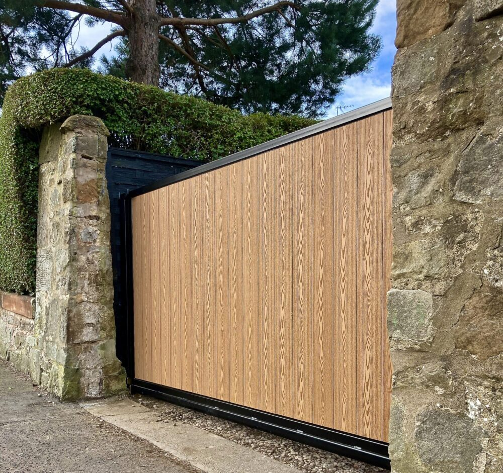 AES (SCOTLAND) LTD recently installed automatic composite cantilever sliding gate Edinburgh