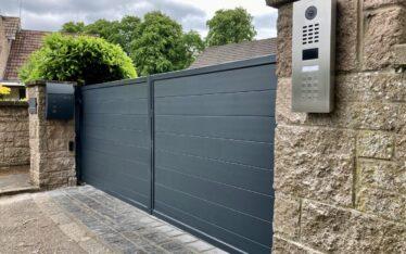 AES (SCOTLAND) LTD recently installed automatic aluminium driveway gates in Edinburgh.
