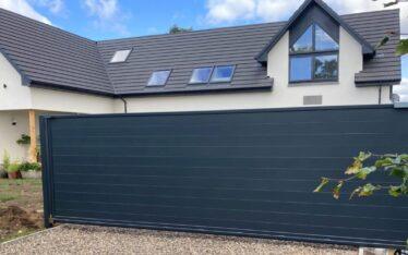 AES (SCOTLAND) LTD recently installed automatic aluminium cantilever sliding gate Fife