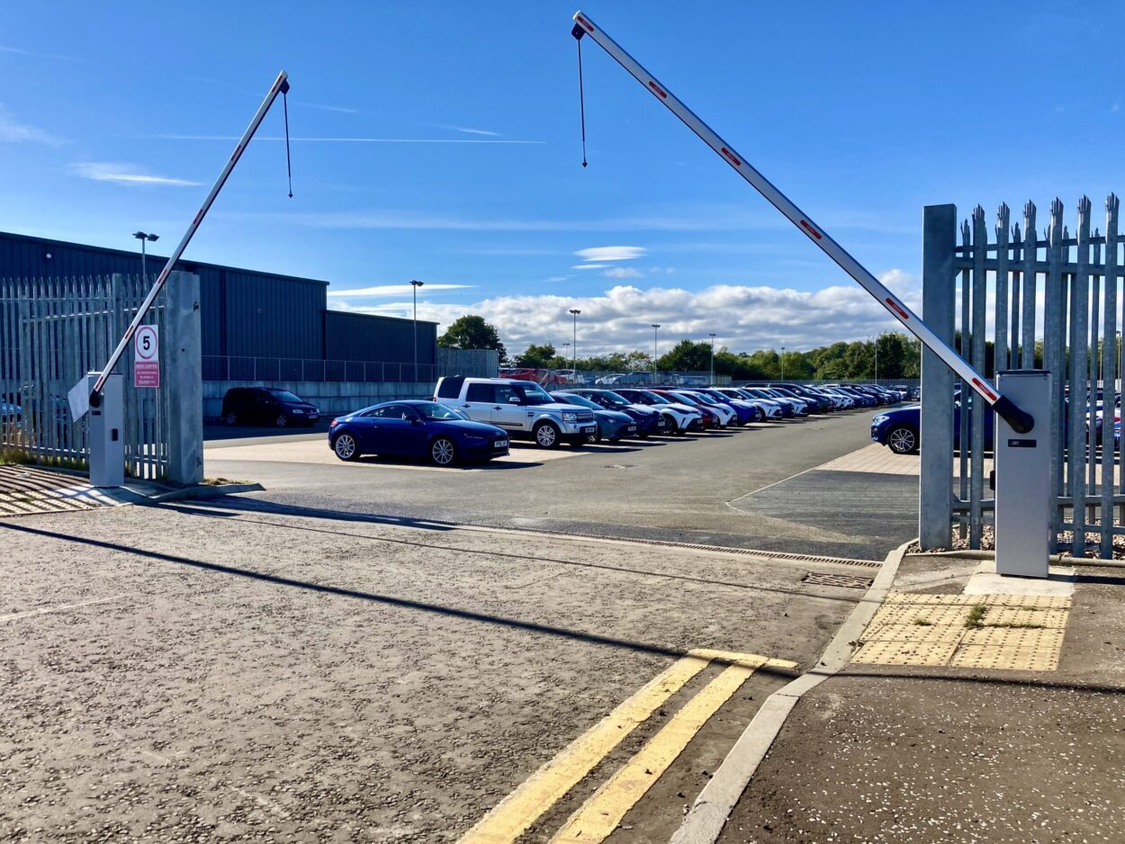 AES (SCOTLAND) LTD recently installed Roger Technology dual automatic car park barriers in Edinburgh